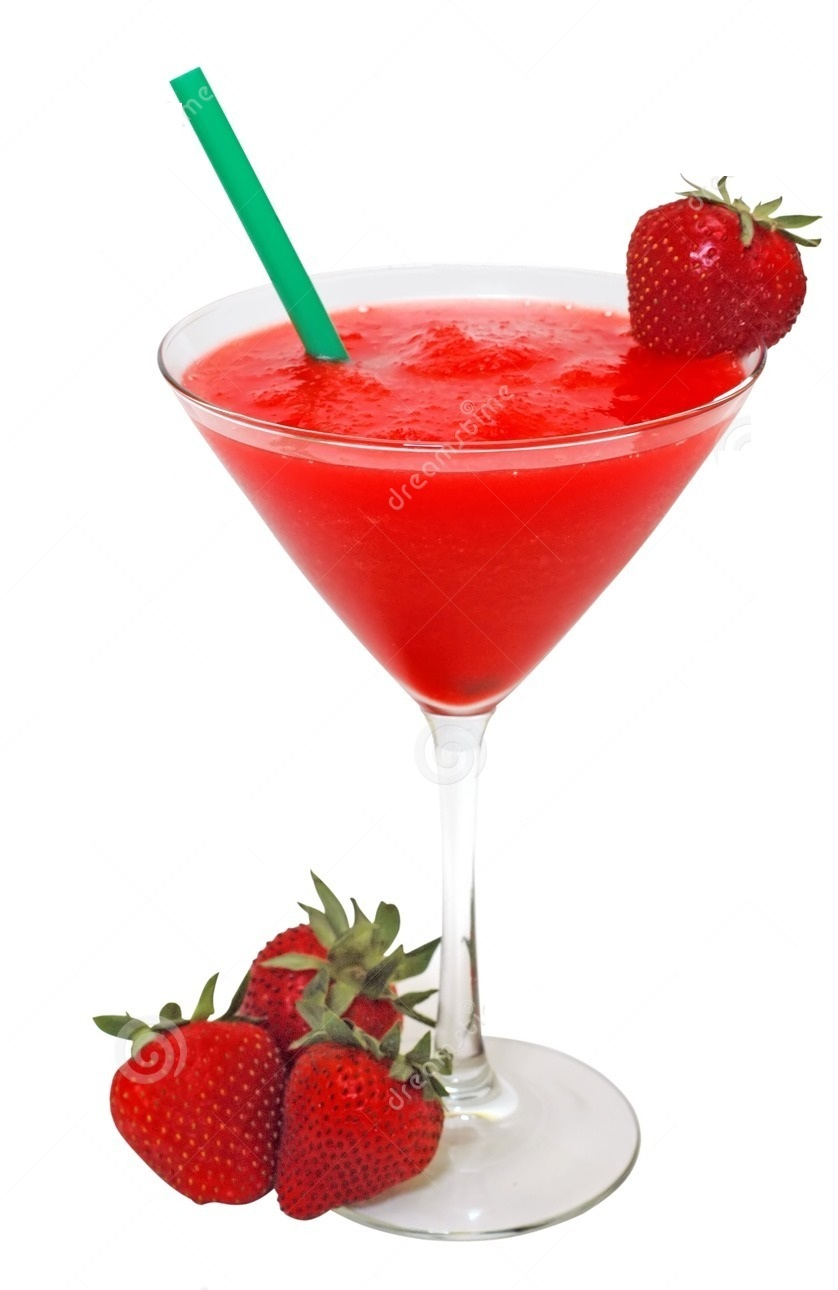 Drinks With Strawberries And Vodka